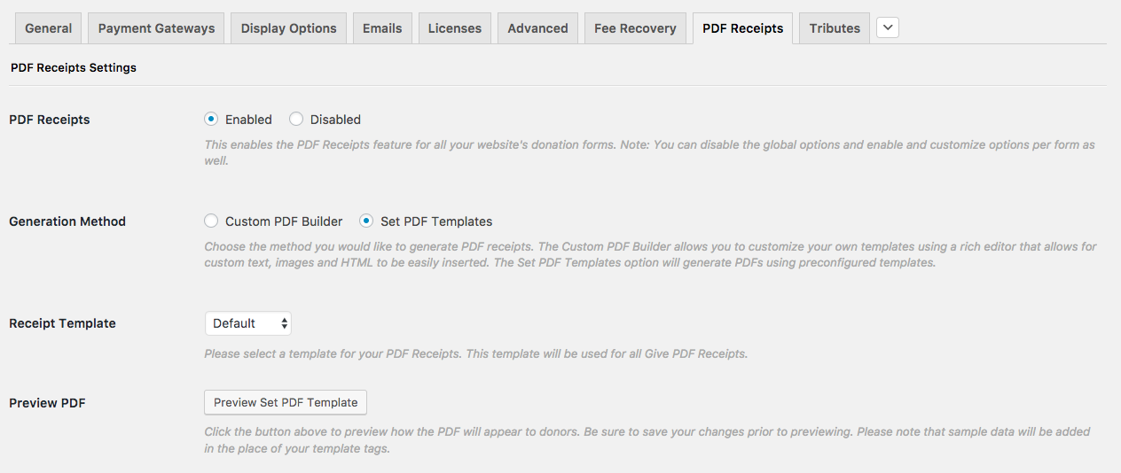 PDF Receipts – GiveWP Donation Plugin