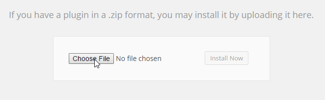 Add New Plugin Choose File