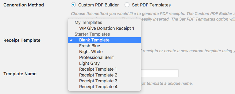 give pdf receipts documentation givewp donation plugin