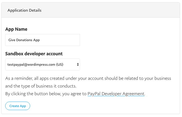 Creating a PayPal REST App