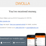 Dwolla Success Email