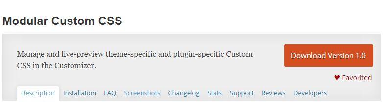 Modular Custom CSS Repository Banner