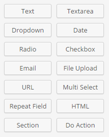 List of Custom Fields
