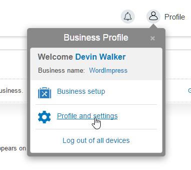 PayPal-Profile-Settings