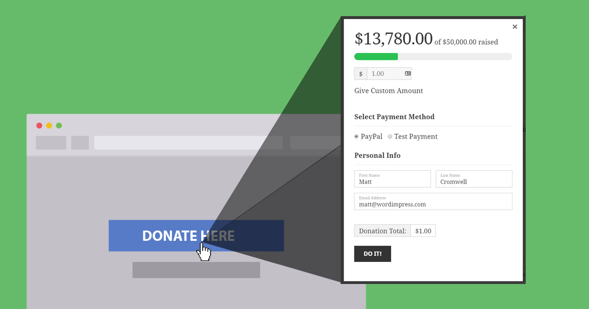 How To Load A Donation Form In A Popup With Give