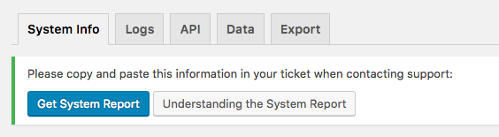 Give Tools: System Info Tab