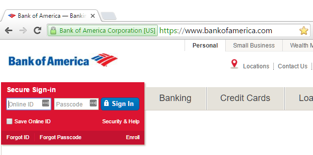 "The green lock in the browser bar indicates an Extended Verification"" SSL certificate."