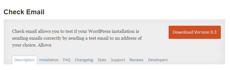 "The ""Check Email"" plugin on wordpress.org"