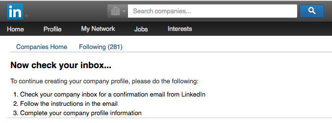 Check your email for LinkedIn's confirmation.