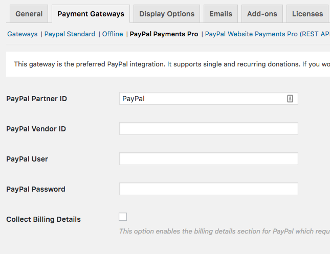 PayPal Payments Pro for GiveWP Donation Plugin