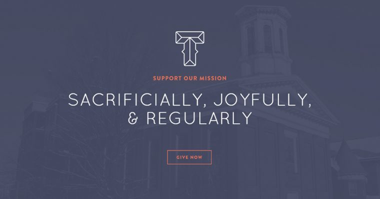 Local churches need regular online giving and often their own members donate their time to build out a site. This is the case with Terra Nova Church, too.