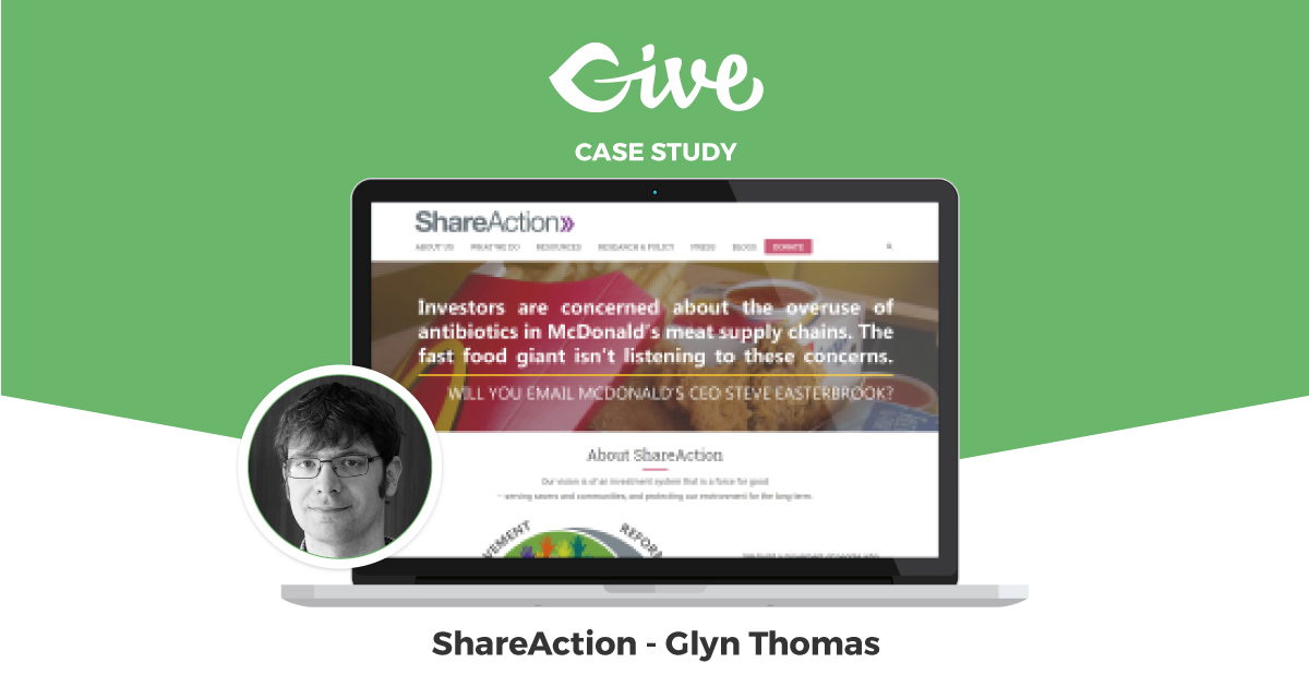 ShareAction, like many larger Nonprofits, has recently moved to WordPress to control their own publishing destiny.