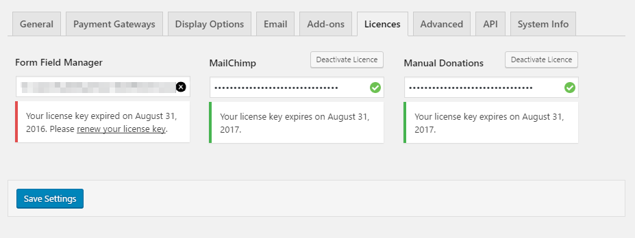 Give 1.7 License Activation Tab