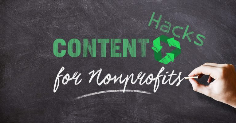 Content marketing for your nonprofit doesn't have to be difficult. Promise. You can repurpose content. We'll show you how.