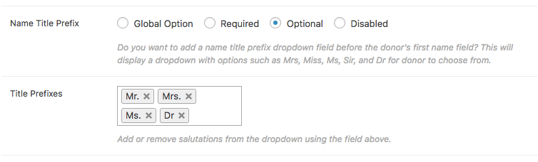 Name title prefix settings in Form Display