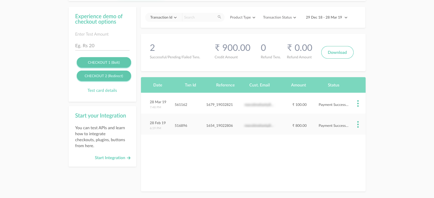 Donation payments from Give appearing in the PayUmoney Sellers Dashboard.