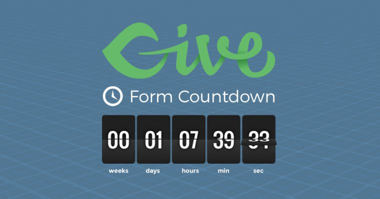 Creating a sense of urgency for your fundraising goals is simple using our new free Add-on, Give Form Countdown.
