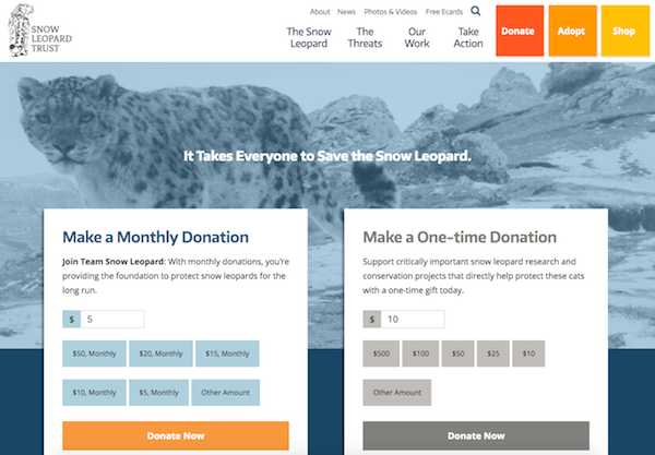 Snow Leopard Trust Donation Form
