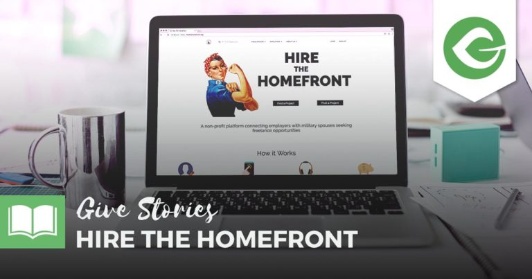 Hire the Homefront is a cause promoting remote work for military spouses. We're excited that they're using Give as part of their fundraising efforts.