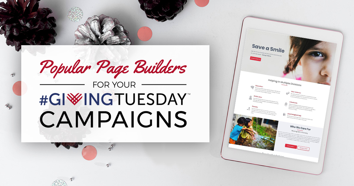 Popular page builders for your Giving Tuesday Campaigns