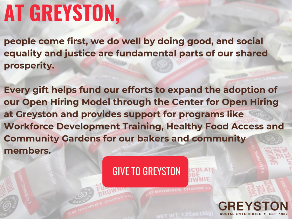 A screenshot of an email from Greyston explaining where donations go.