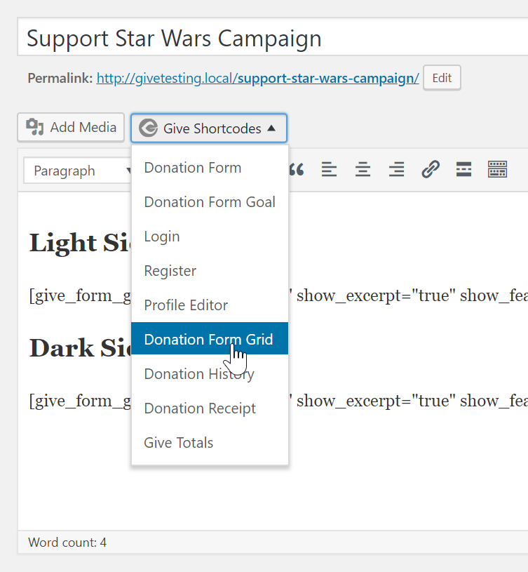 How to Use the New Give Donation Form Grid - GiveWP