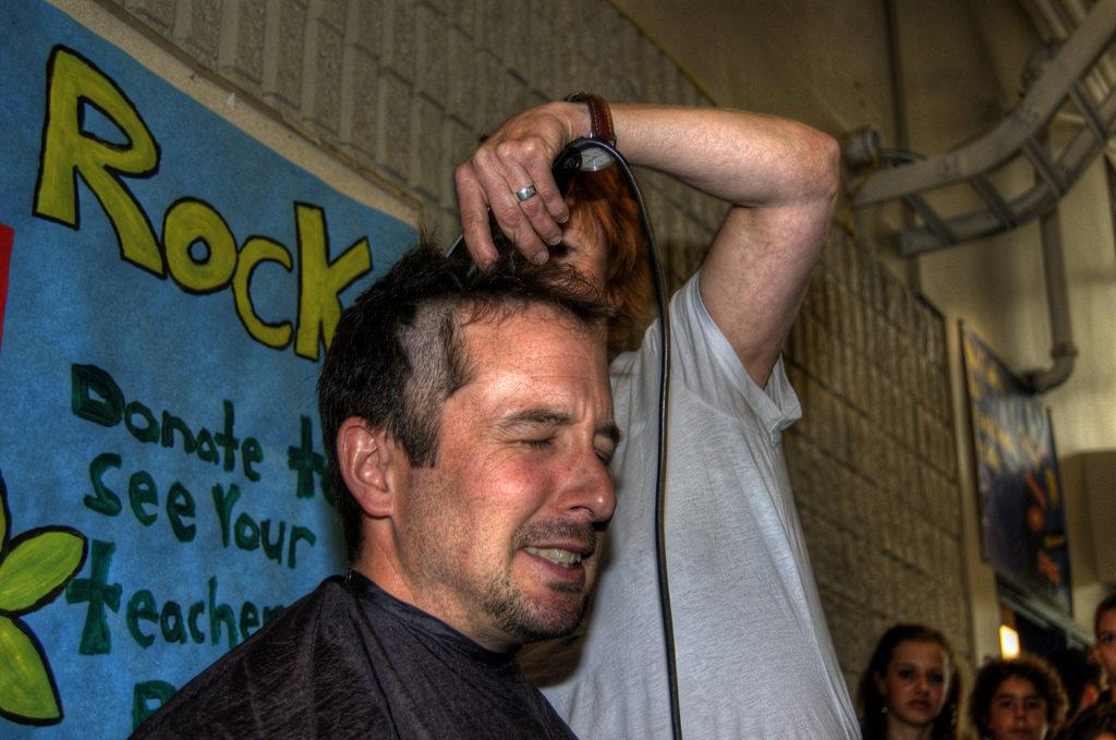 Teacher shaving Head Challenge