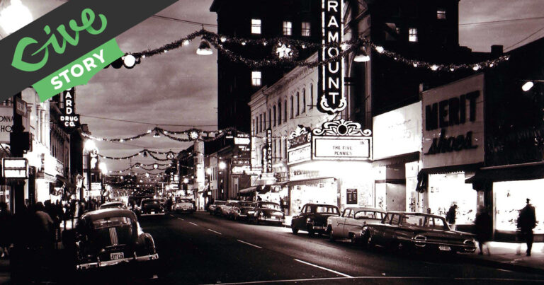 Historical Society Charlottesville Virginia, Black and white street image
