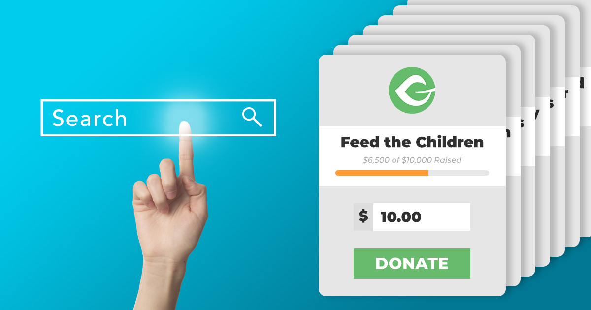 Donation search engine