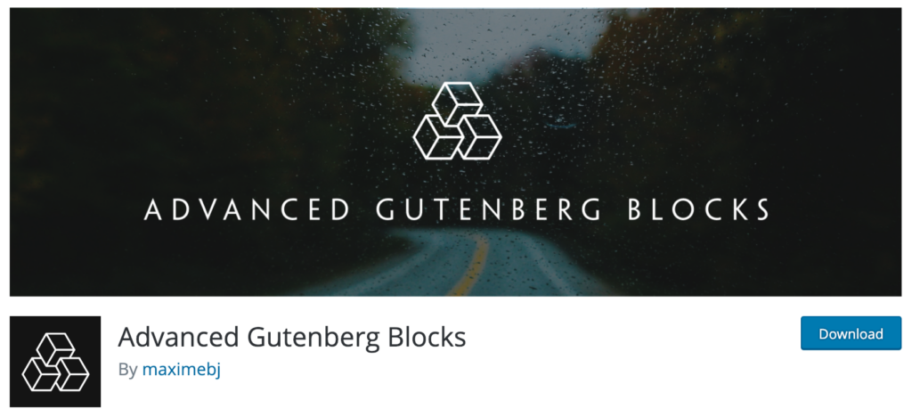 Advanced Gutenberg Blocks.