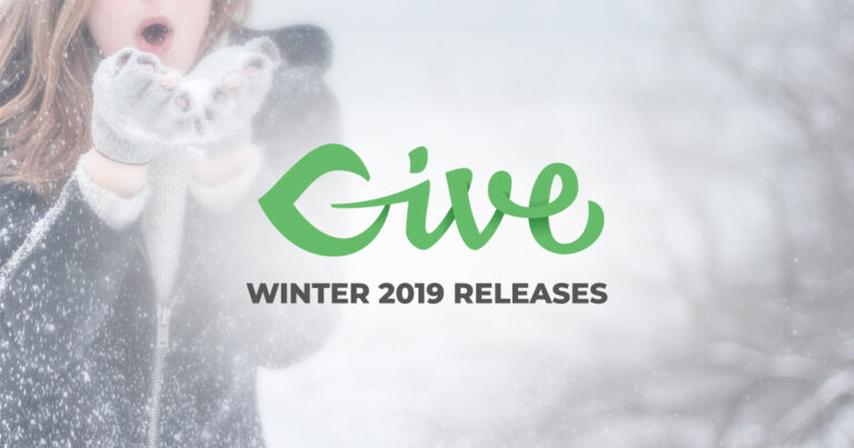 "An image of a woman dressed warm in the snow with the words ""Give Winter 2019 Releases"""