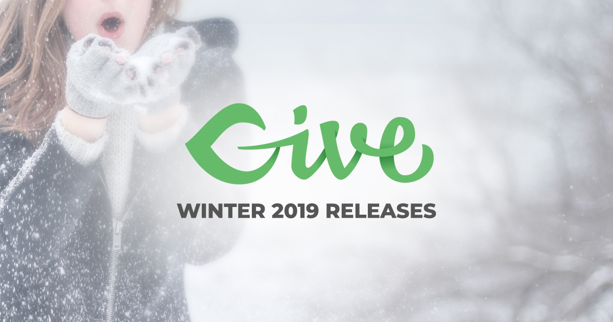 """An image of a woman dressed warm in the snow with the words """"Give Winter 2019 Releases"""""""
