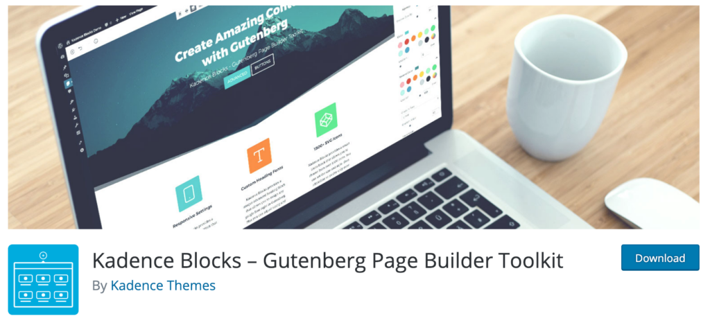 Kadence Blocks - Gutenberg Page Building Tools.