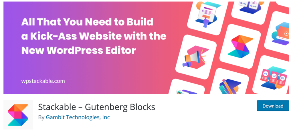 Stackable Gutenberg Blocks