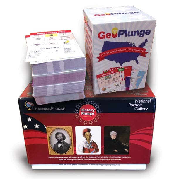 The Geo Plunge and History Plunge games help both kids and adults learn.
