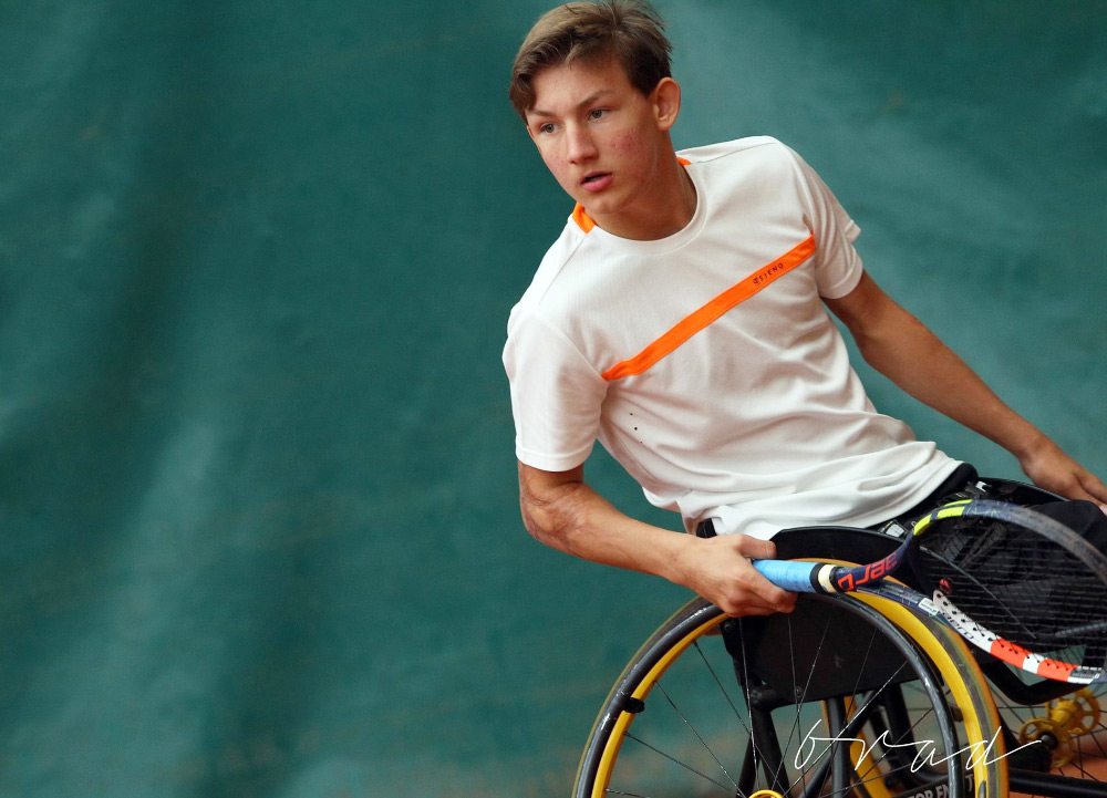 Now Niels is dedicated to wheelchair tennis.