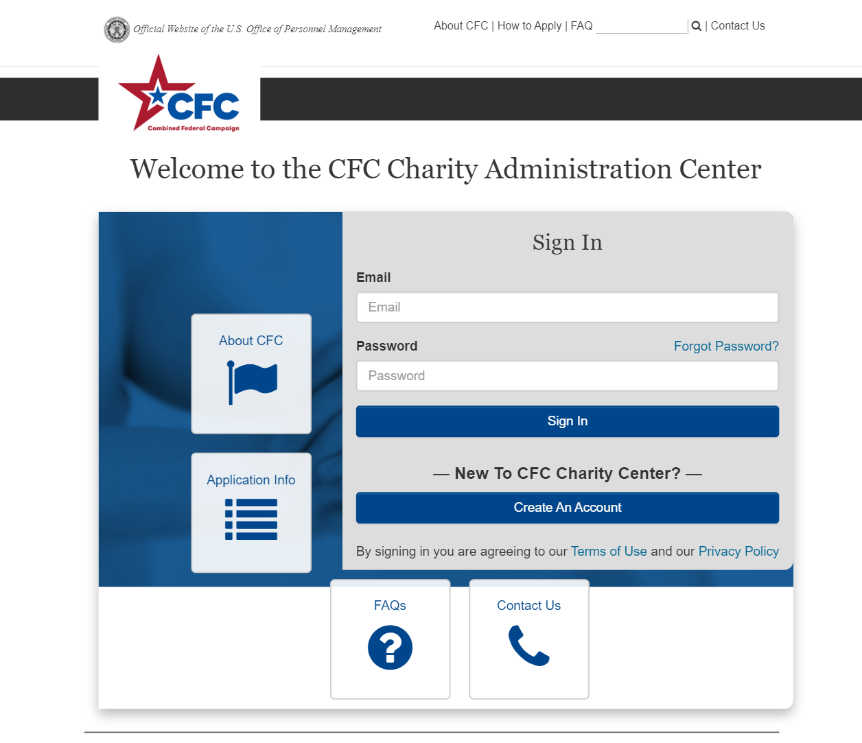 Join the Combined Federal Campaign 2020 by visiting the CFC Charities official website.