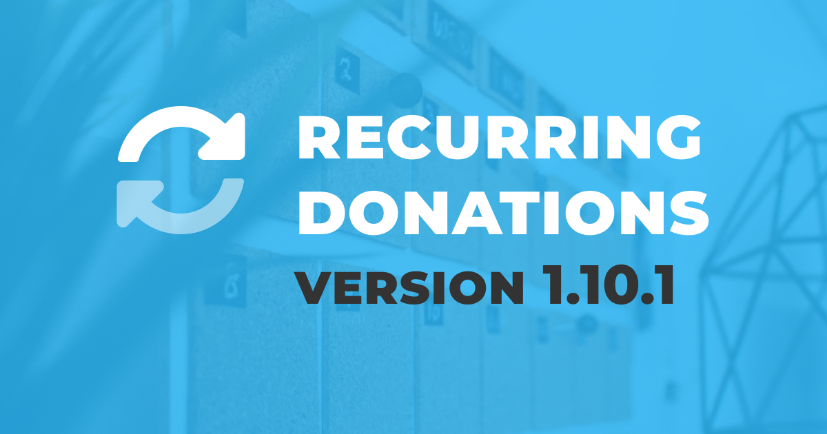 Recurring Donations version 1.01.1