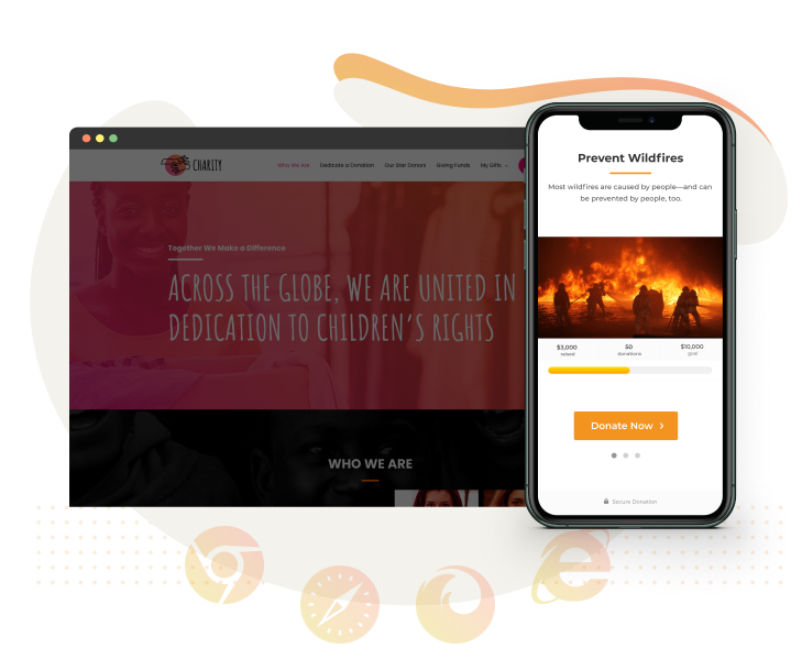 GiveWP donation forms are responsive when used with a responsive theme.