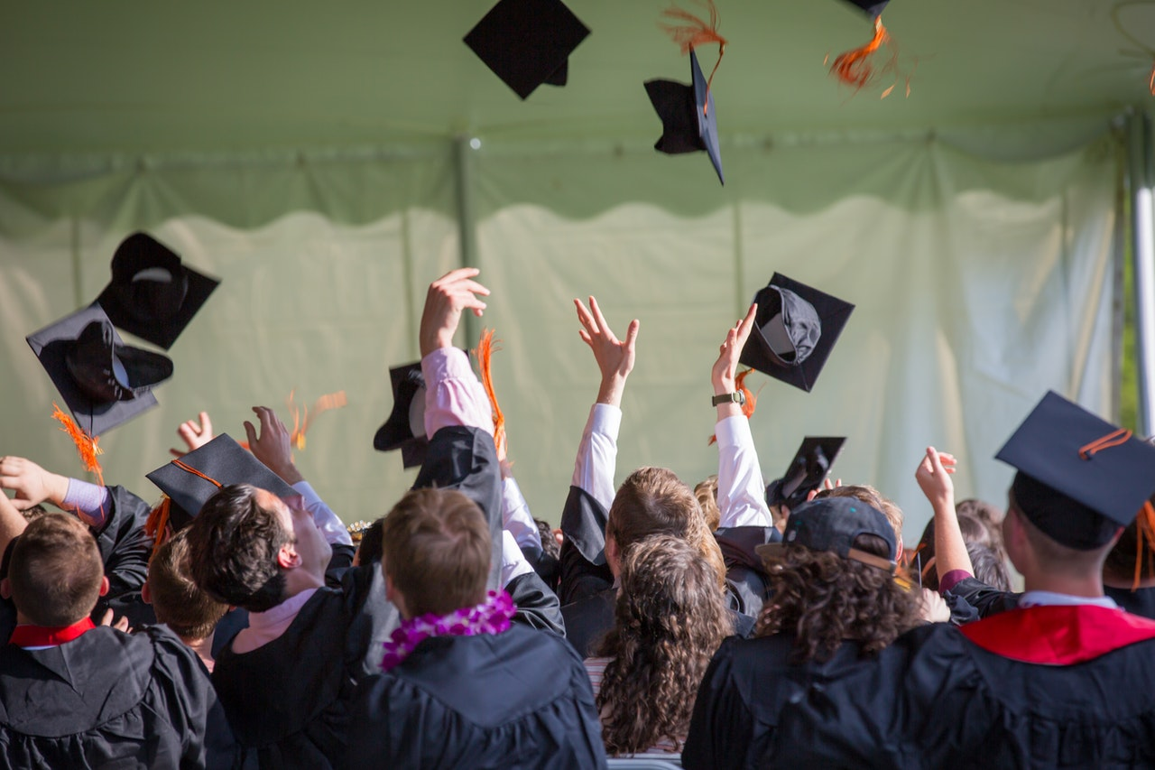 "Donation caps in the air... but did you raise money for the alternative? School fundraising ideas for your next graduating class might not include the infamous ""cap throw."""