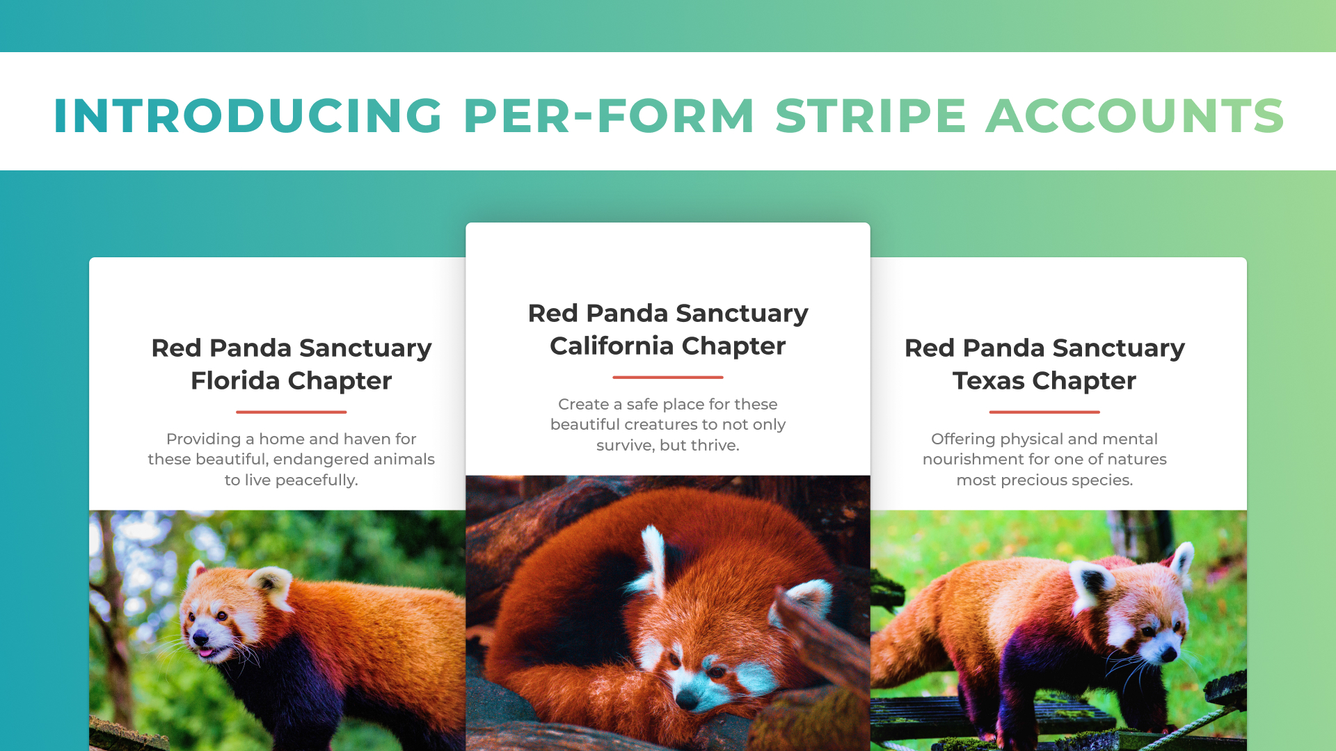 Per-form Stripe Account Poster