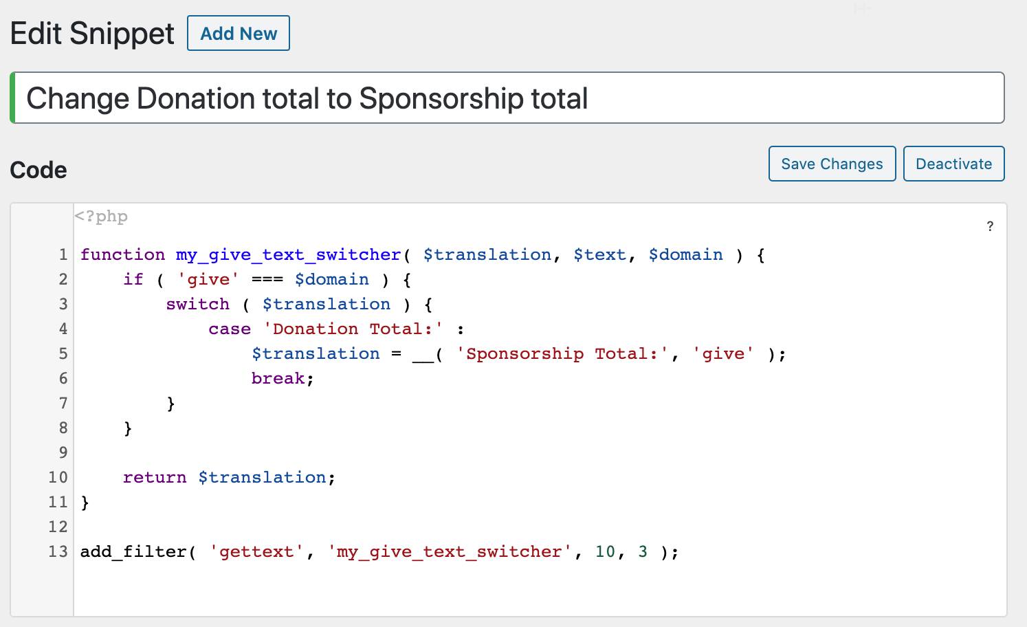 """When it comes to getting sponsorships, consider using a PHP snippet to make sure the word """"donation"""" is changed to """"sponsorship."""""""