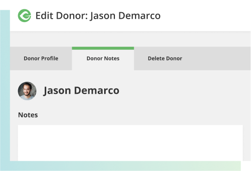 Keep notes in your donor database.