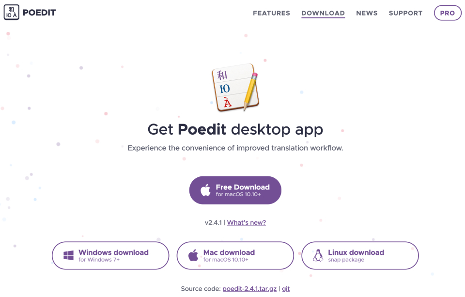 The Poedit download page