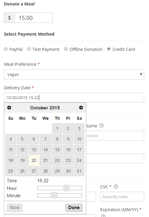 A Donation Form with Custom Fields