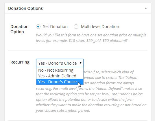 Recurring Donations For Give WordPress Donation Plugin