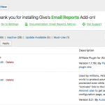 Email Reports Activation Welcome