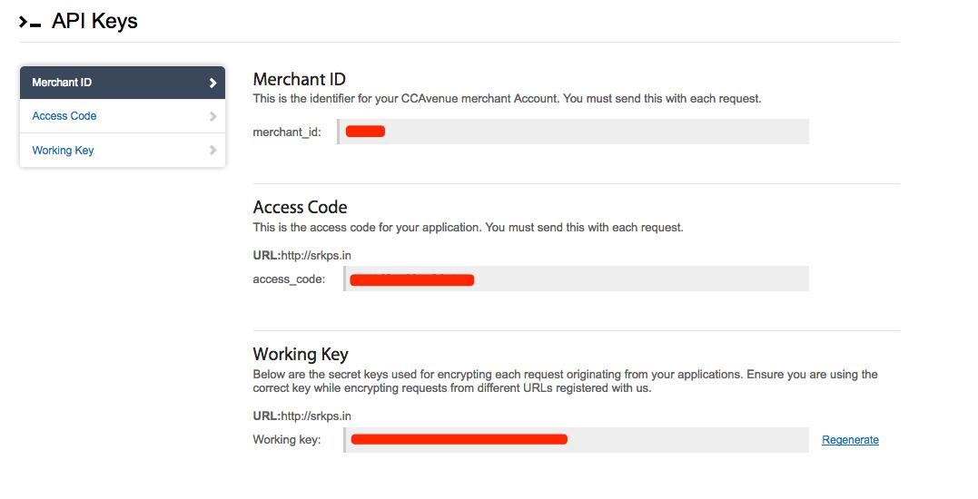 Give CCAvenue Gateway Documentation