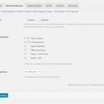 The Give payment gateway settings showing iATS enabled.