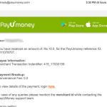 payumoney email receipt
